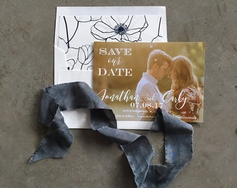 Romantic Script Save the Date Cards