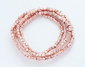 "120 of Karen hill tribe Rose Gold Vermeil Style Faceted Beads 1.6 mm. 8 "" :pg0027"