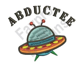 Ufo Abductee - Machine Embroidery Design