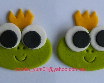 12 edible CUTE BABY FROGS prince cupcake cake topper decorations anniversary birthday baby shower christening school sea amphibian