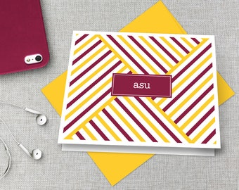 Arizona State Thank You Notes / Arizona State Graduation Gift / Sun Devils Stationary / Sun Devils Note Card / ASU Gift / Fear the Fork Gift