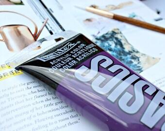Grape Purple Acrylic Paint // DIY Painting // Purple Paint // Art Supplies // Best Paints for Canvas // Paint for Paper