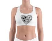 Sports bra with love...