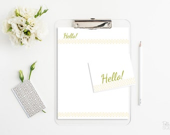 Printable stationery set Printable letterhead Printable note cards 4 Bar Instant Download
