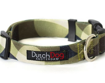 "Over the Moon - Dog collar from recycled webbing  - Size L (20-25""), 1"" wide"