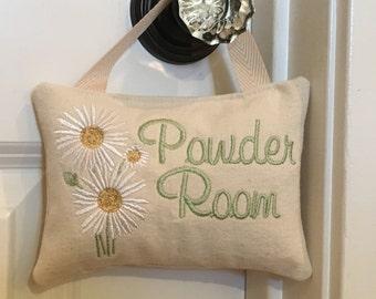 Powder Room Sign, Powder Room Door Hanger, Powder Room Door Sign, Bathroom  Door