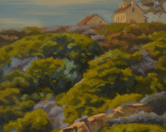Point Loma - Lighthouse - San Diego - Plein Air - Oil Painting - Monument - National Park - Landscape - Coastal - San Diego Bay - Hillside
