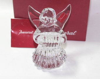 Baccarat Cherub Angel with Accordion, Boxed with sticker