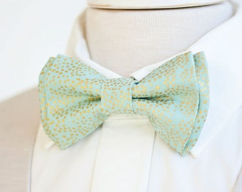Bow Tie, Mens Bow Tie, Bowtie, Bowties, Bow Ties, Groomsmen Bow Ties, Wedding Bowties, Ties, Mint Bow Tie, Rifle Paper Co - Champagne Mint