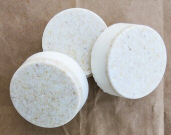 Set of 3, Essential Oil, Handmade Soap - Oatmeal & Honey Soap - Goats Milk Soap