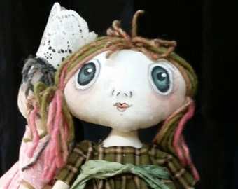 Prim Annie Doll /  Gifts for Her/ Mothers Day / Rag Doll / Cloth Doll/ Art Doll/ Primitive Decor / Finished Dolls / Rag Dolls