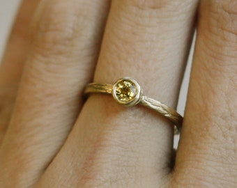 Yellow Sapphire Stackable Ring