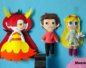 Stuffed star vs the Forces of Evil-star vs the Force of evil plush-Hekapoo, star, Marco, Jackie