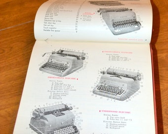 Vintage 1957 20th Century Typewriting Book Elementary Course