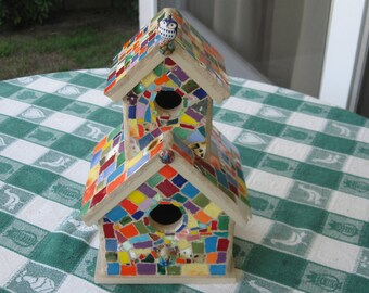Mosaic Ceramic special tile birdhouse