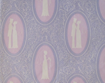 Vintage Laurel WEDDING Gift Wrap Wrapping Paper - Victorian BRIDE and GROOM - 1960s 1970s