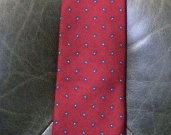 Vintage Brooks Brothers Silk Tie, Vintage Silk Tie, Vintage Brooks Brothers, Vintage Men's Tie, Men's Gifts, Burgundy Silk Tie, Neck Ties