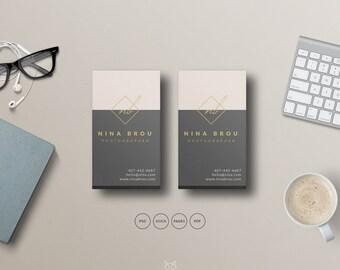 Premade Business Card | Fashion Business Card PSD Template | Elegant Business Card Design| Feminine Business Card | Instant Download