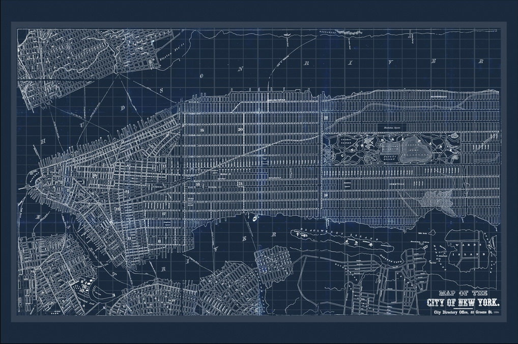 New york map map of new york manhattan map blueprint map nyc map mondomappa malvernweather Gallery