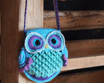 GERMANY version of crochet pattern Owl Bag