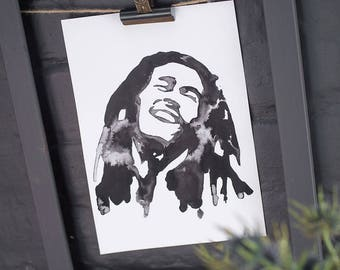 Iconic Bob Marley print