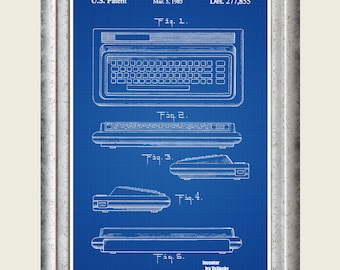 Computer blueprint etsy commodore 64 patent print commodore computer poster commodore 64 art programmer gift malvernweather Image collections