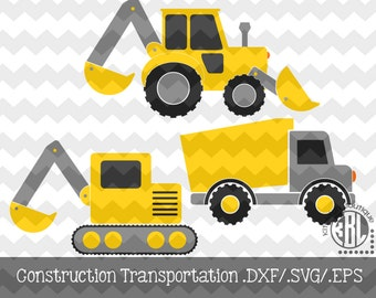 Construction Transportation .DXF/.SVG/.EPS File for use with your Silhouette Studio Software