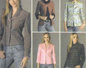 Simplicity 4363 Sewing Pattern Uncut Misses Lined Jacket 5 Designs Size 8, 10, 12, 14 and 16 UNCUT