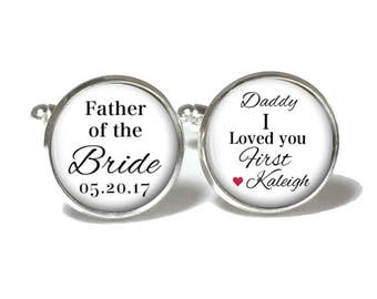Father of the Bride Cuff Links | Men's | Wedding Cuff Links | Style 660