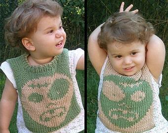 "Reversible baby bib (""Zombaby"") knitting pattern (PDF)"