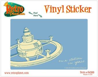 Station In Space Lunastrella Vinyl Sticker - #64399