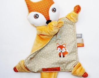 Cuddly baby Fox embroidery little Fox.