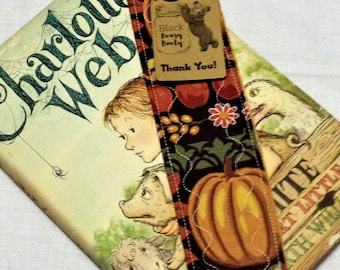 Quilted Book Mark Pumpkins Fall