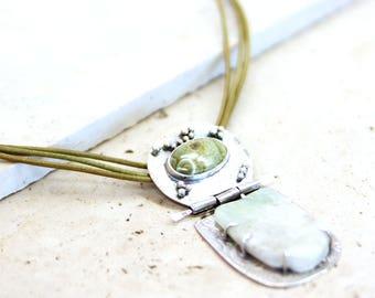 Ocean & Jasper Agate Necklace
