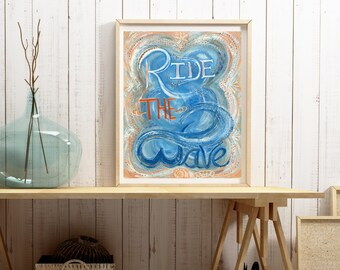Ride The Wave - Vertical Format Print - Frame Not Included