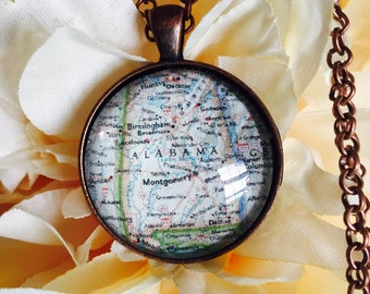 Custom Map/Charleston Map Jewelry