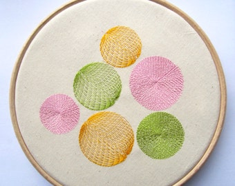 Spiral Embroidery Circles Hoop Wall Decor, Embroidery Art