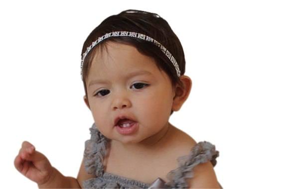 Rhinestone Headband, Silver Headband, Baby Halo Headband, Infant ...