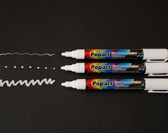 Small Tip Dry Erase White Chalk Marker - 4.5mm (Set of 3)