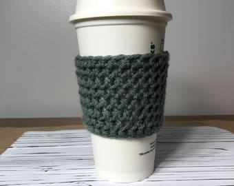 Coffee Sleeve, Cup Sleeve, Cup Cozy, Coffee Cozy, Crochet Coffee Sleeve, Tea Cozy, Fall Coffee Cozy, Stocking Stuffer, Custom Coffee Cozy