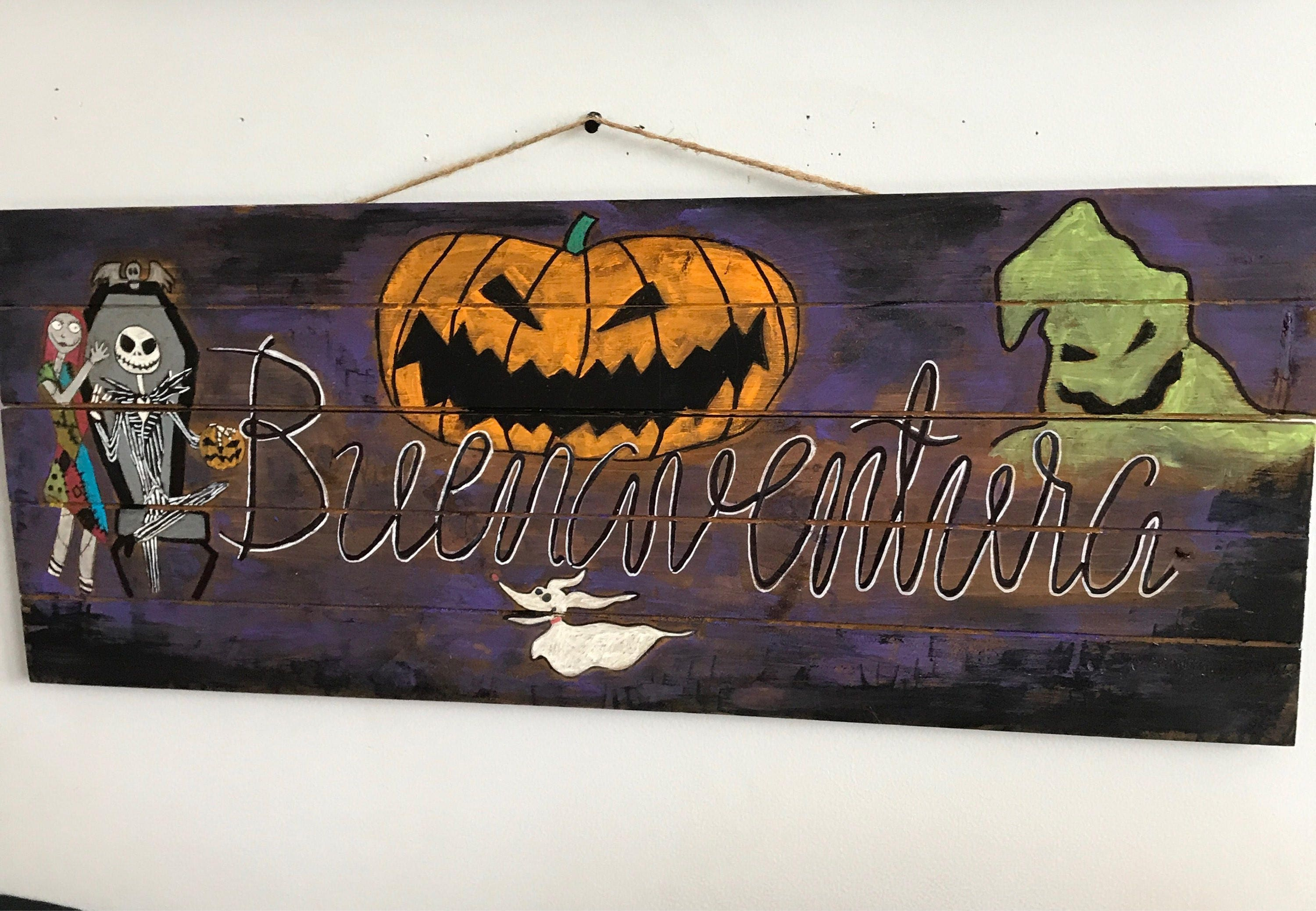 Personalized Nightmare Before Christmas Wooden Sign Jack And