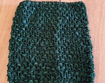 STRAPLESS stretch green Hunter/dark green crochet for baby 0-16 month tutu dress creation