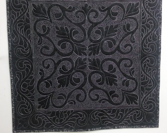 Custom Black and white spread cloth