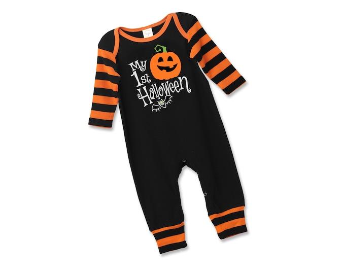 Halloween Baby Boy Pumpkin Outfit, My First Halloween Onesie Baby Boy, Pumpkin Halloween Onesie, Newborn Halloween Bodysuit Boys Tesababe