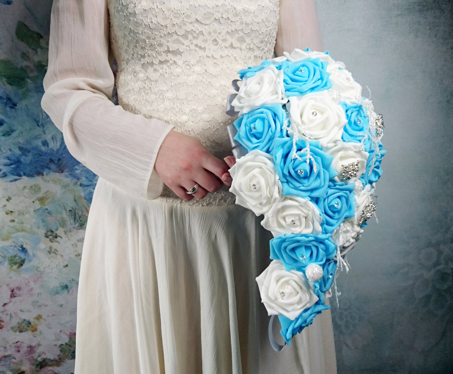 White and blue foam roses sparkle glitter brooches silver frozen gallery photo gallery photo gallery photo mightylinksfo Images