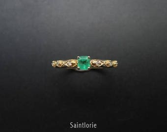 0.25 Carat Emerald Engagement Ring