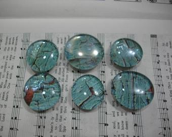 Blue Barnwood Glass Magnets  / Glass Magnets / Refrigerator Magnets / Fridge Magnets / Glass Premium Magnets / Office, School or Kitchen