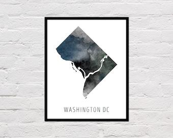 Washington DC Map Print, Printable Washington DC Map, Washington DC Art Print, Washington Dc Wall Art, Watercolor Map, Washington Dc Poster