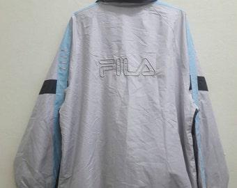 sale!! Vintage FILA windbreaker sportwear street jacket Size XL