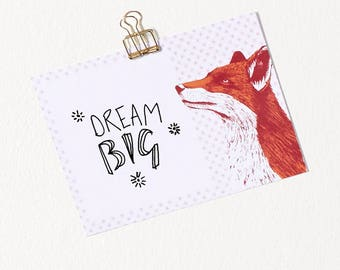10pck Fox Note Cards / Inspiring Quotes / Motivational Cards